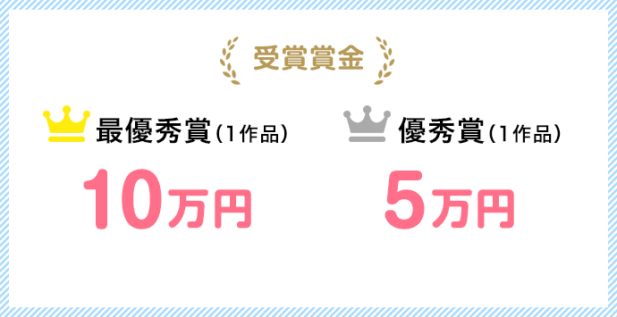 賞金 最優秀賞10万円 優秀賞5万円