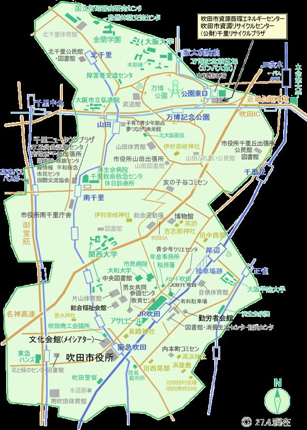 吹田市地図