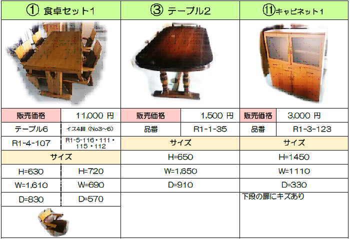 売残り家具1
